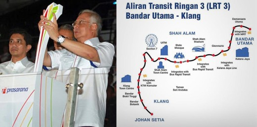 Image result for najib LRT 3